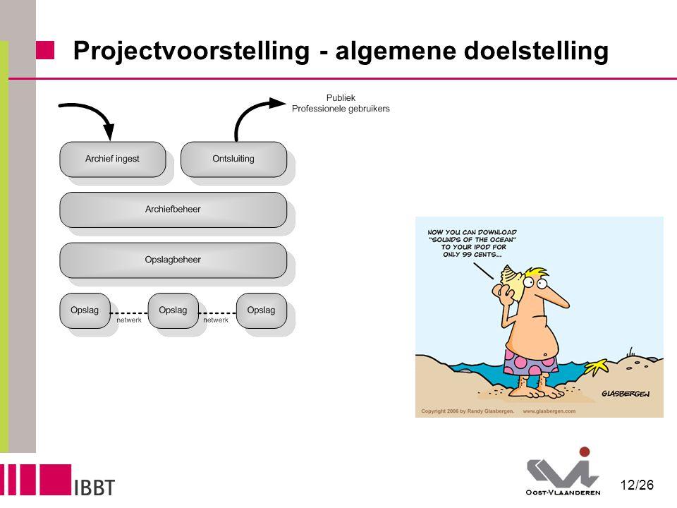12/26 Projectvoorstelling - algemene doelstelling