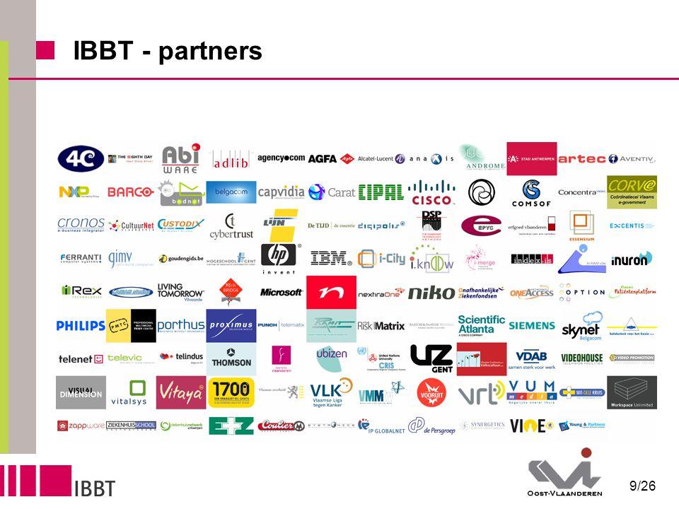 10/26 IBBT - partners