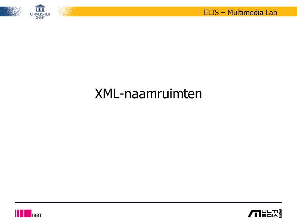 ELIS – Multimedia Lab XML-naamruimten