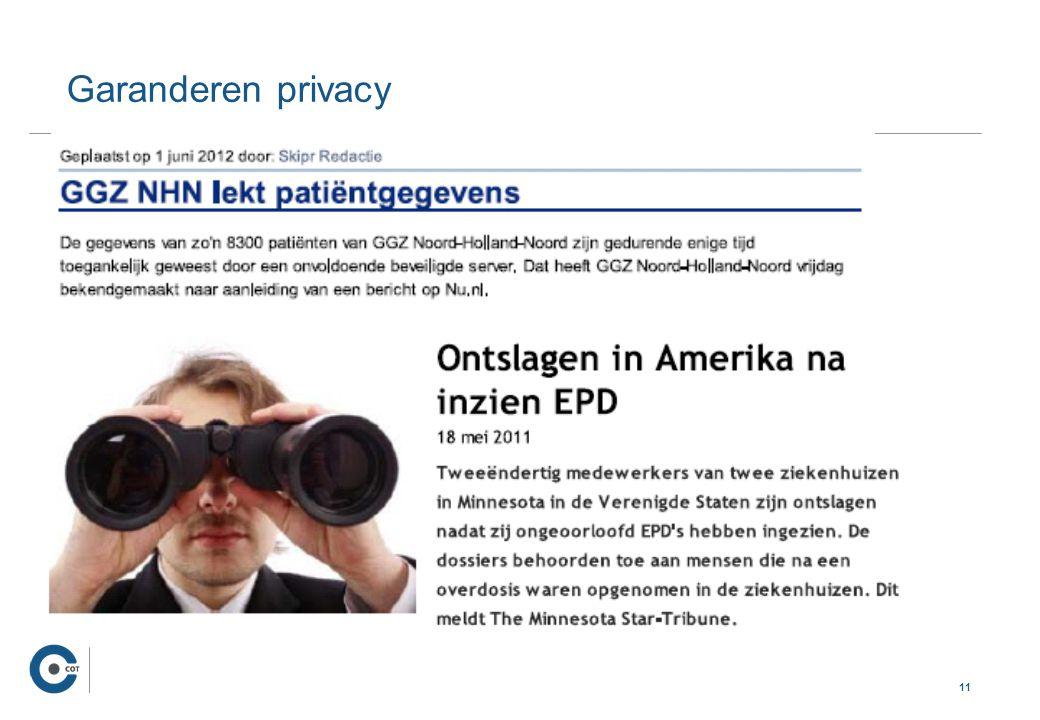 11 … Garanderen privacy