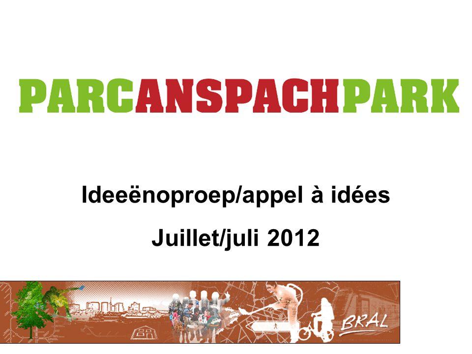 Ideeënoproep/appel à idées Juillet/juli 2012