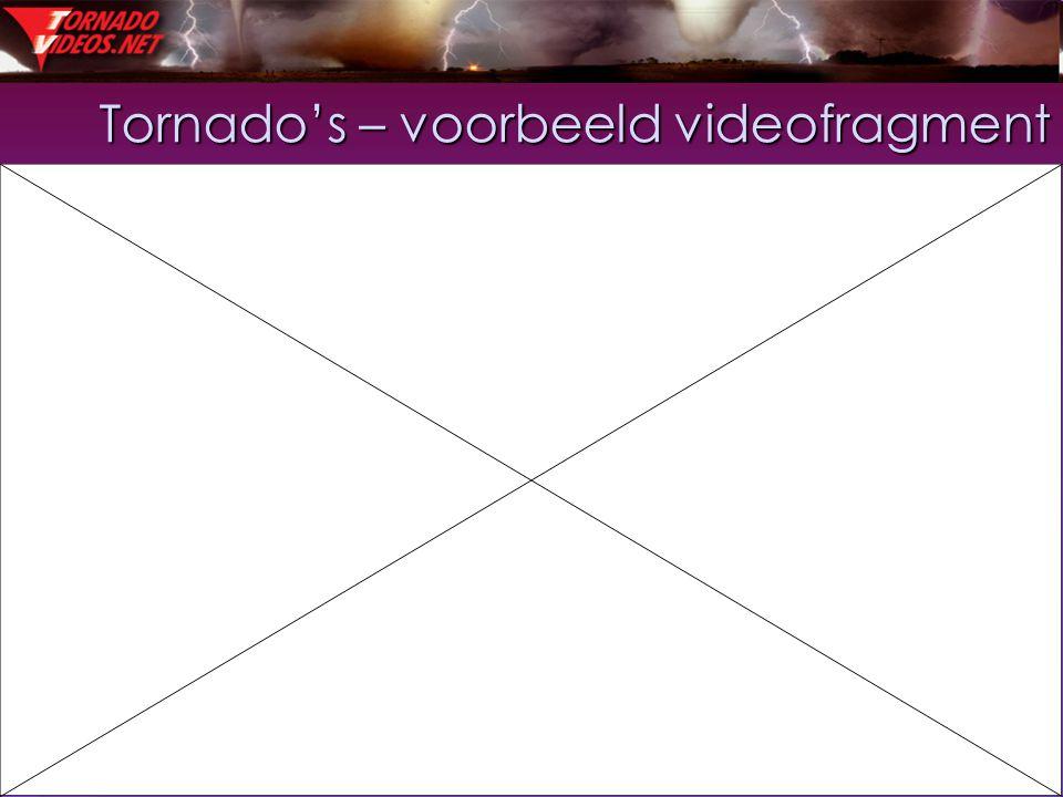 35 Tornado's – voorbeeld videofragment
