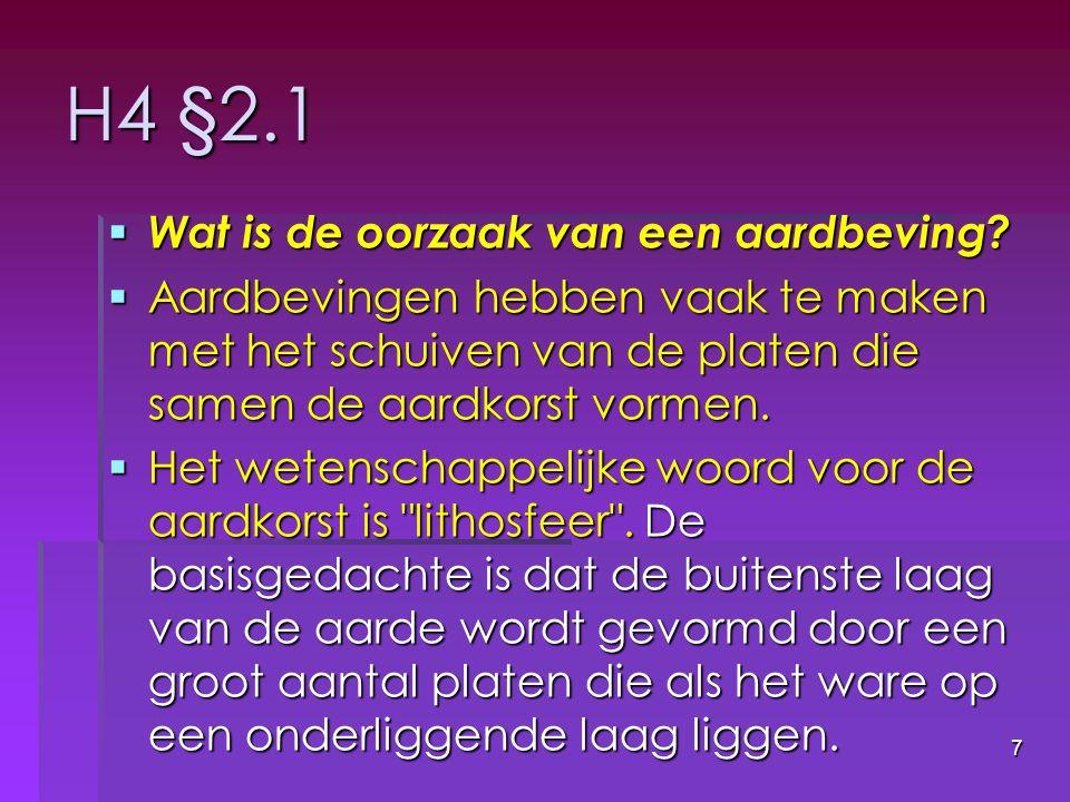 38 §4.1 // natuurrampen in Nederland. Ja.