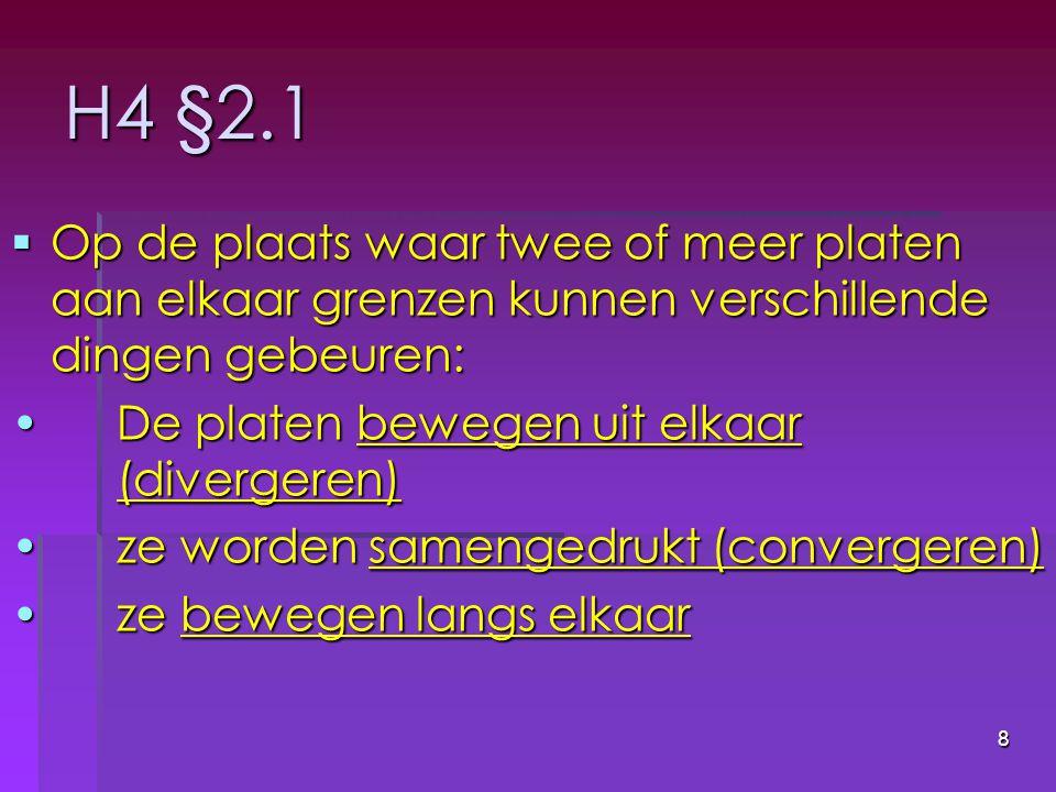 19 H4 §2.2 // vulkanen