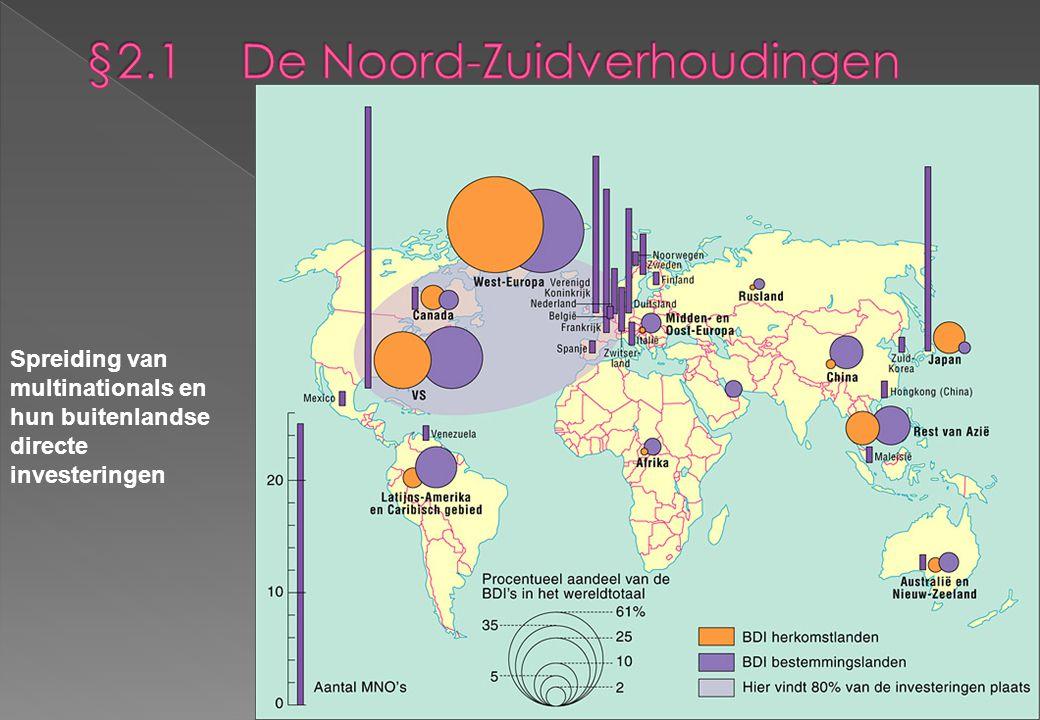 Spreiding van multinationals en hun buitenlandse directe investeringen