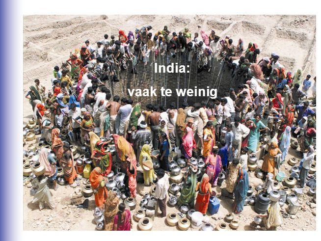 India: vaak te weinig