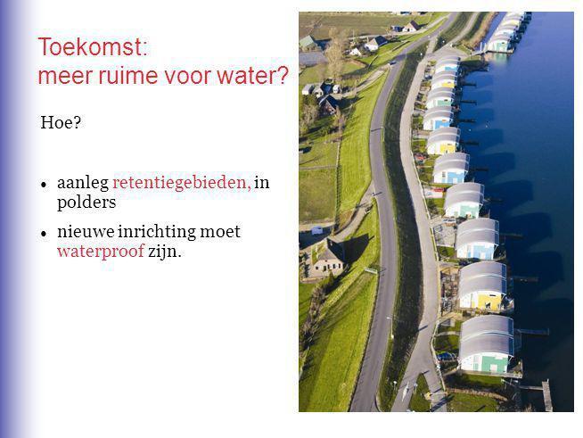 Hoe.● aanleg retentiegebieden, in polders ● nieuwe inrichting moet waterproof zijn.