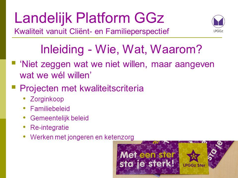 Bedankt voor uw aandacht! Landelijk Platform GGz Kwaliteit vanuit Cliënt- en Familieperspectief