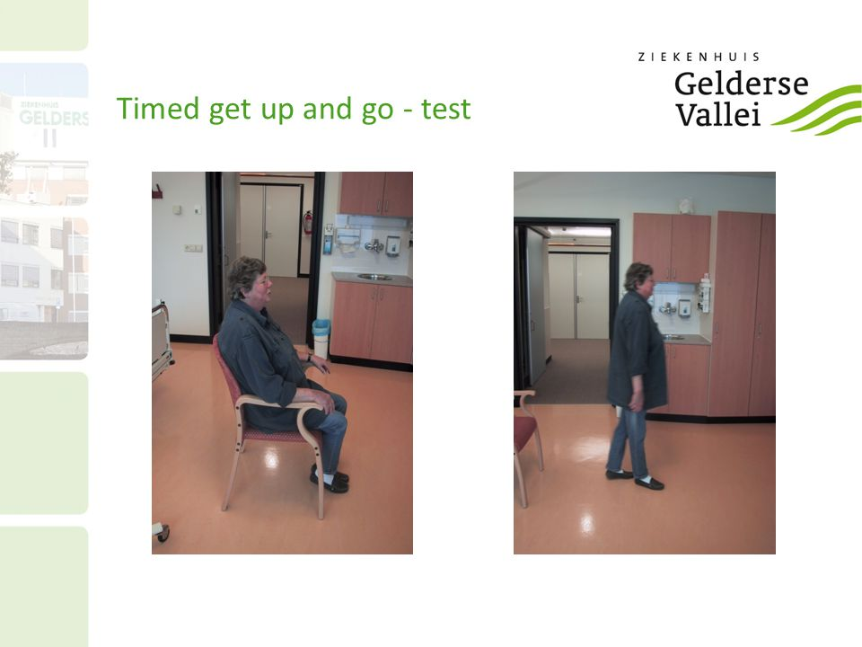 Timed get up and go - test