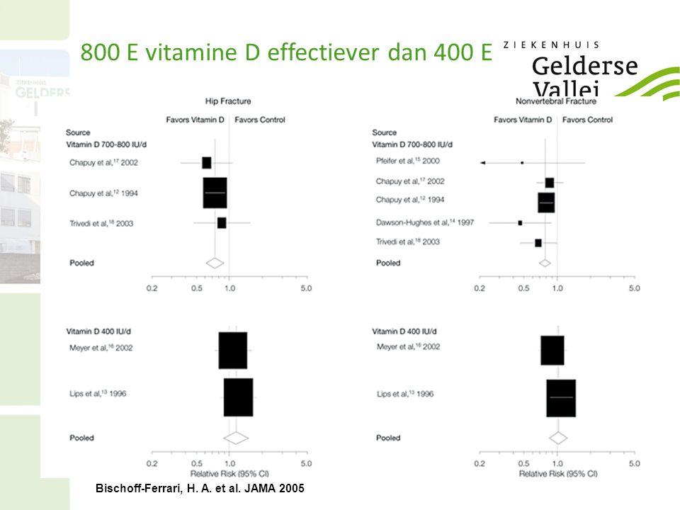 Bischoff-Ferrari, H. A. et al. JAMA 2005 800 E vitamine D effectiever dan 400 E