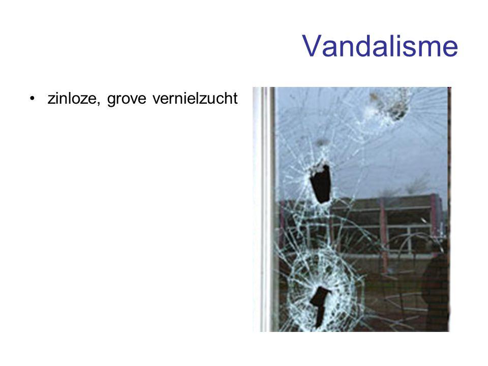 Vandalisme zinloze, grove vernielzucht