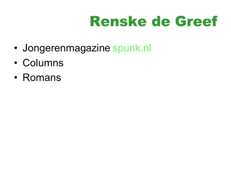 Renske de Greef Jongerenmagazine spunk.nl Columns Romans