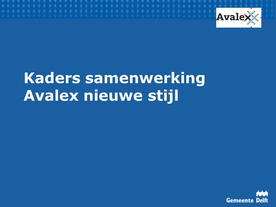 Kaders samenwerking Avalex nieuwe stijl