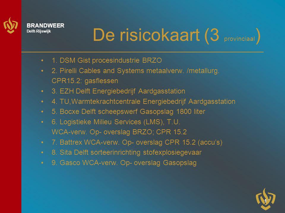 14 BRANDWEER Delft-Rijswijk De risicokaart (2) 13.