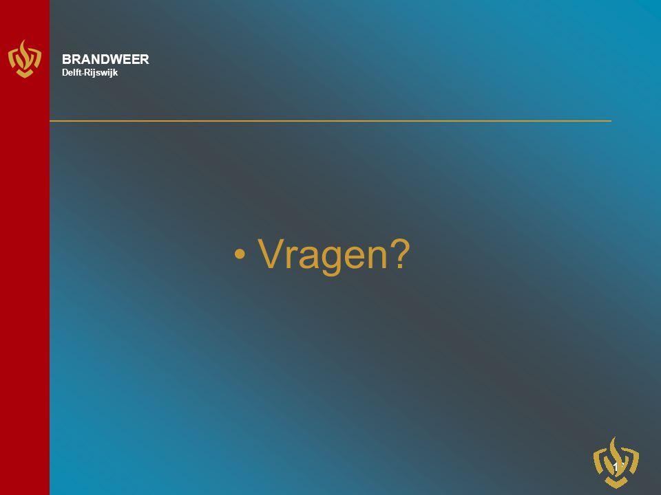 15 BRANDWEER Delft-Rijswijk De risicokaart (3 provinciaal ) 1.