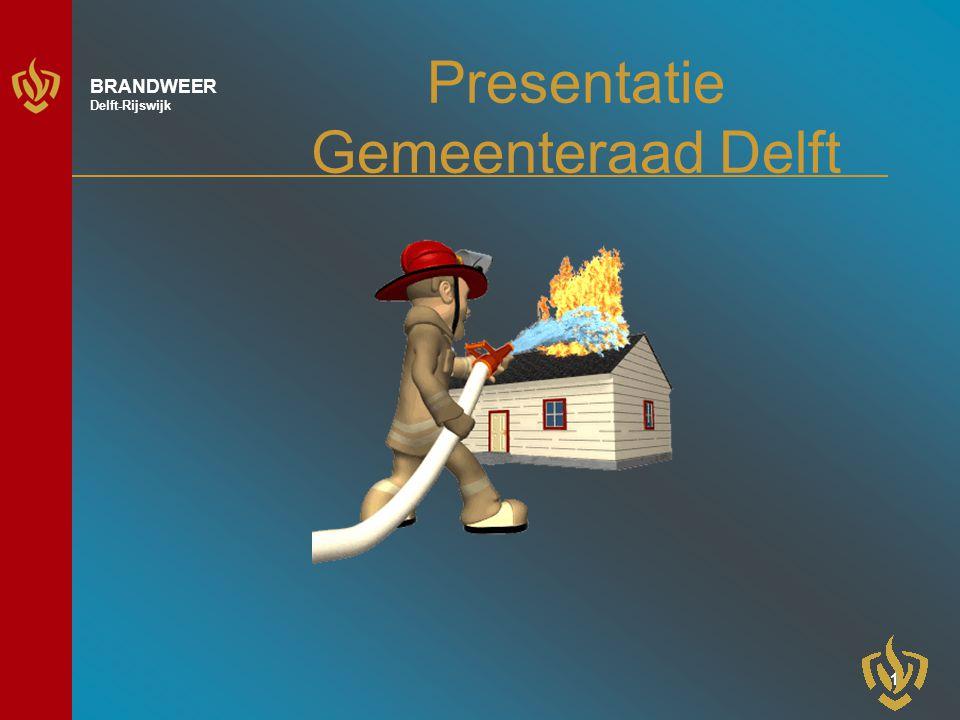 2 BRANDWEER Delft-Rijswijk Inhoud Organisatie Sector Veiligheid Sector Preparatie/Repressie en Nazorg Actueel
