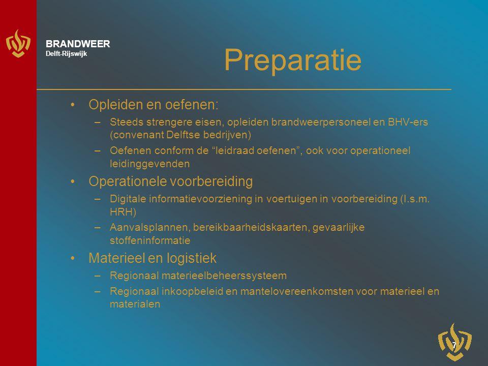 8 BRANDWEER Delft-Rijswijk Repressie
