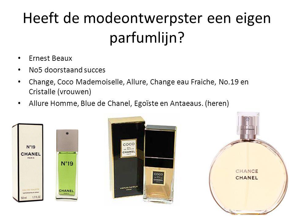 Heeft de modeontwerpster een eigen parfumlijn.