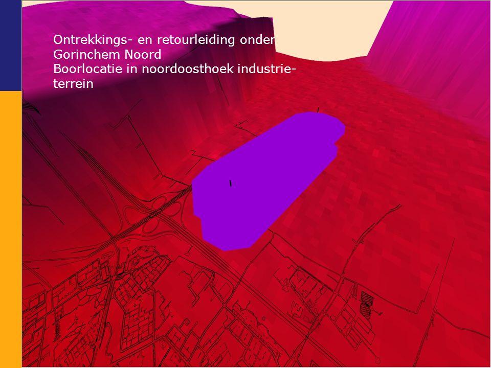 Ontrekkings- en retourleiding onder Gorinchem Noord Boorlocatie in noordoosthoek industrie- terrein