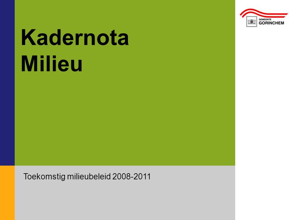 Toekomstig milieubeleid 2008-2011 Kadernota Milieu