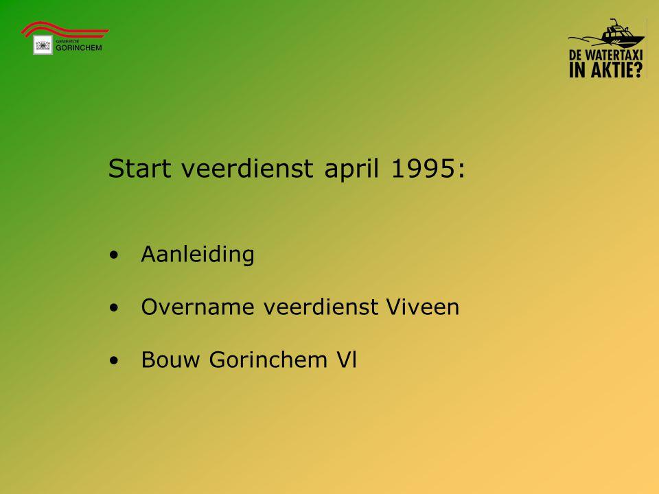 Start veerdienst april 1995: Aanleiding Overname veerdienst Viveen Bouw Gorinchem Vl