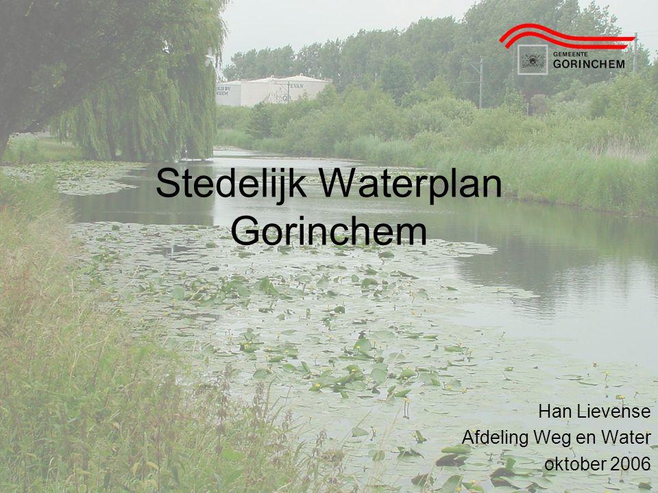 Stedelijk Waterplan Gorinchem Han Lievense Afdeling Weg en Water oktober 2006