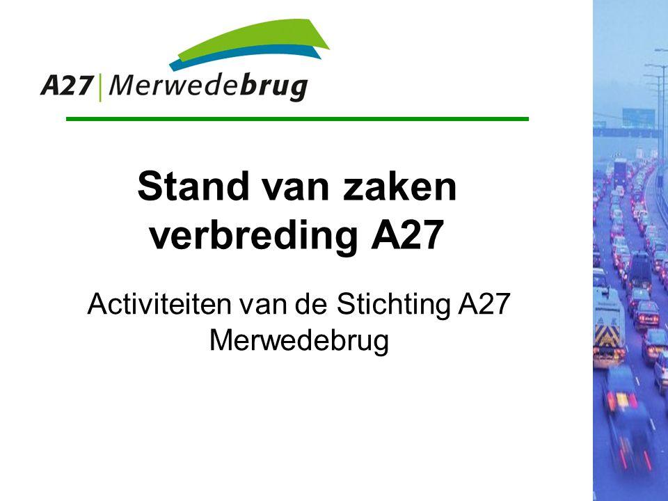 Probleem bij de A27 Belang van de A27 Samen aanpakken: Stichting A27
