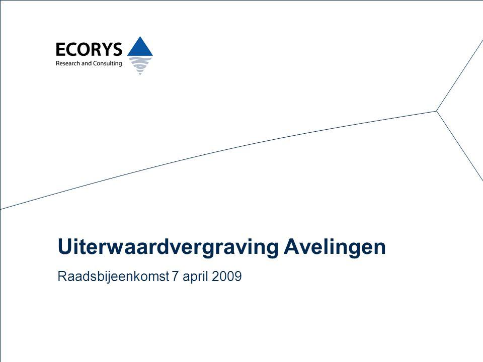 Uiterwaardvergraving Avelingen Raadsbijeenkomst 7 april 2009