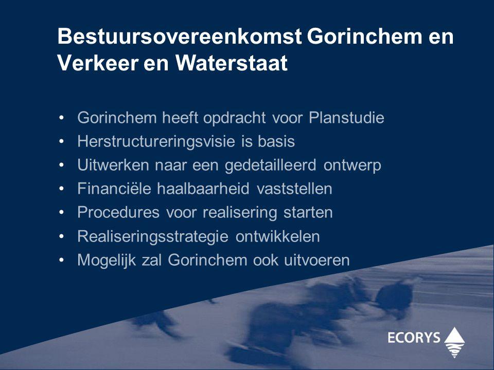 Bestuursovereenkomst Gorinchem en Verkeer en Waterstaat Gorinchem heeft opdracht voor Planstudie Herstructureringsvisie is basis Uitwerken naar een ge