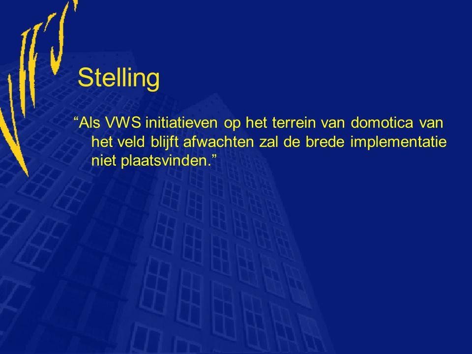 """Stelling """"Als VWS initiatieven op het terrein van domotica van het veld blijft afwachten zal de brede implementatie niet plaatsvinden."""""""