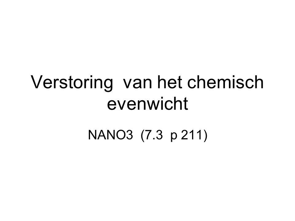 Verstoring van het chemisch evenwicht NANO3 (7.3 p 211)