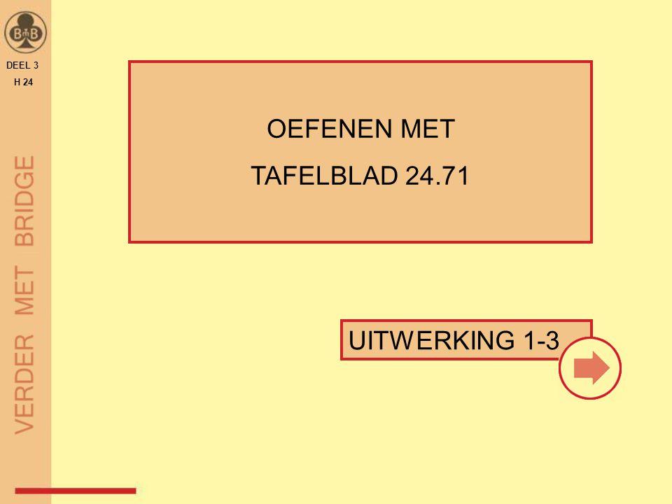 UITWERKING 1-3 OEFENEN MET TAFELBLAD 24.71 DEEL 3 H 24