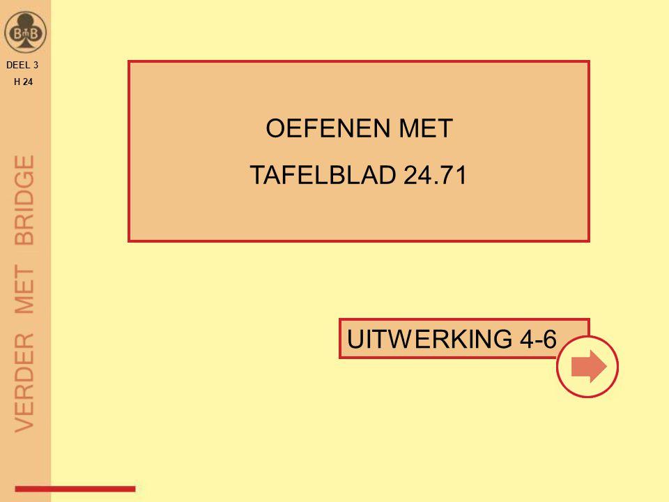 OEFENEN MET TAFELBLAD 24.71 DEEL 3 H 24 UITWERKING 4-6