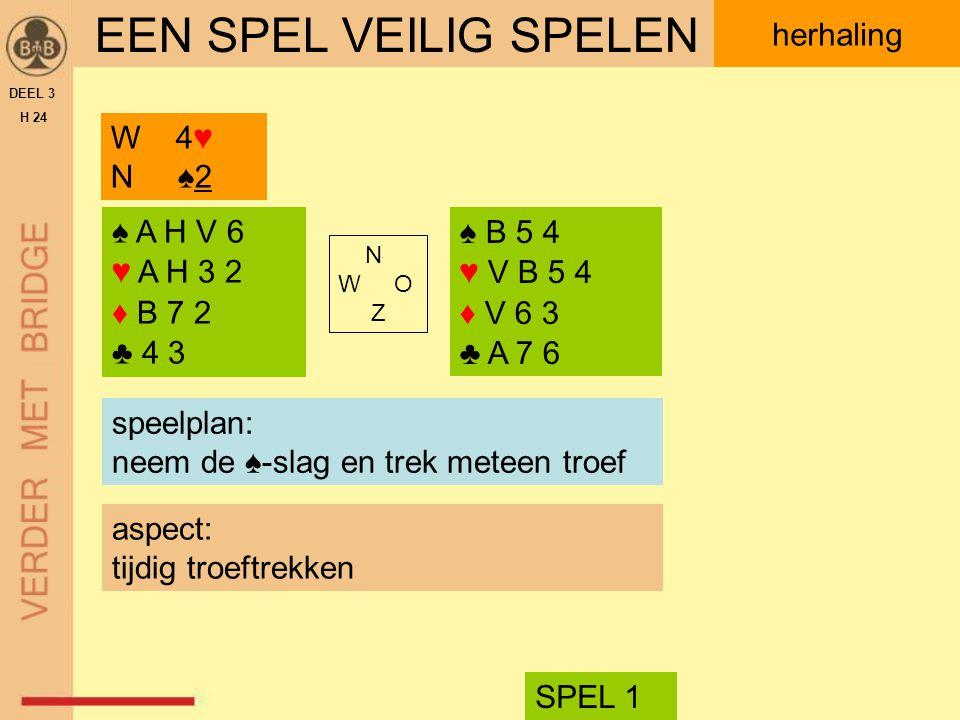 ♥ H V 3 2 DEEL 3 H 24 spelen voor maximaal aantal slagen aanpak.