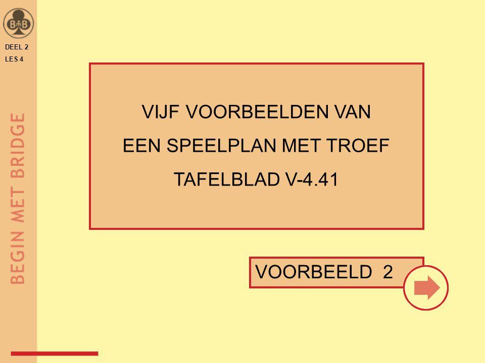 DEEL 2 LES 4 VIJF VOORBEELDEN VAN EEN SPEELPLAN MET TROEF TAFELBLAD V-4.41 VOORBEELD 2