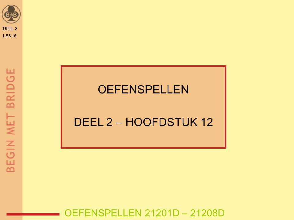 DEEL 2 LES 16 OEFENSPELLEN DEEL 2 – HOOFDSTUK 12 OEFENSPELLEN 21201D – 21208D
