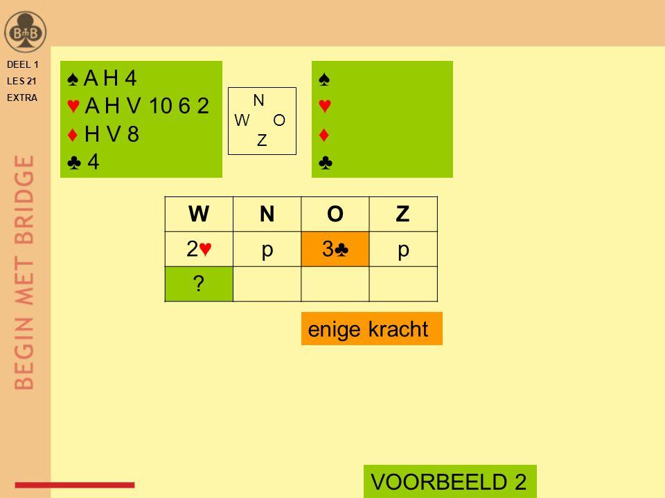 ♠ A H 4 ♥ A H V 10 6 2 ♦ H V 8 ♣ 4 N W O Z WNOZ 2♥2♥p3♣p .