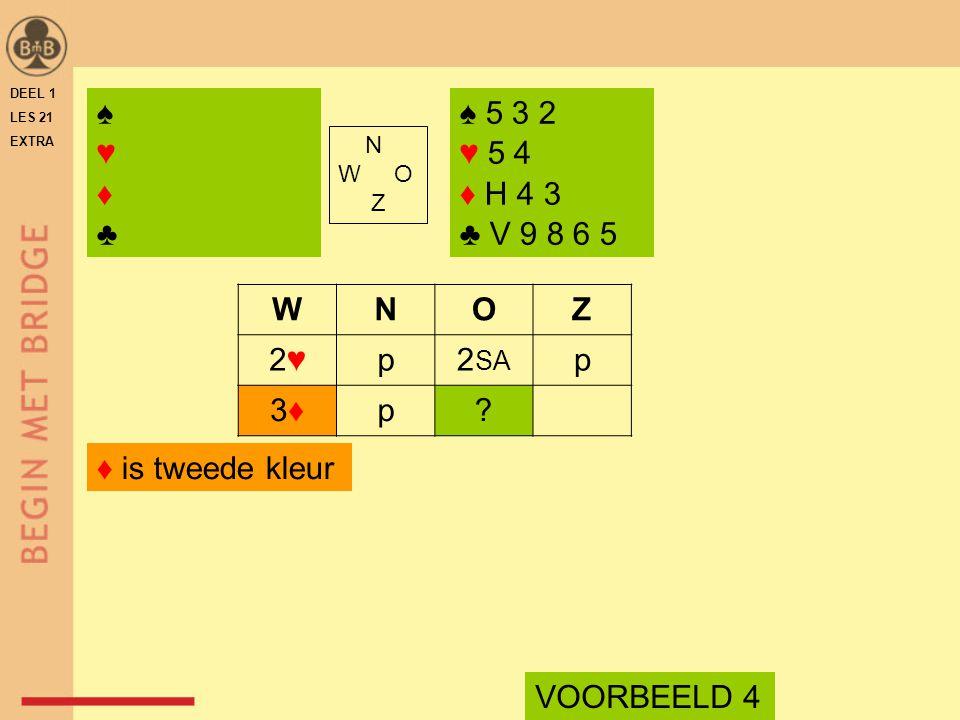 N W O Z WNOZ 2♥2♥p2 SA p 3♦3♦p.