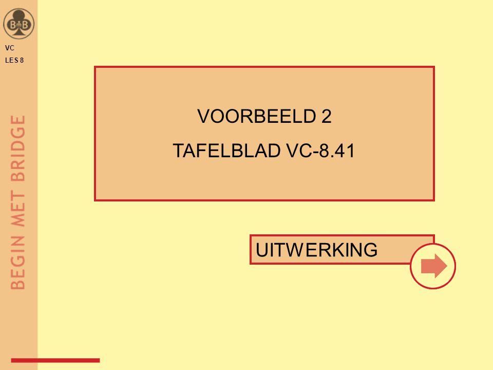 UITWERKING VOORBEELD 2 TAFELBLAD VC-8.41 VC LES 8