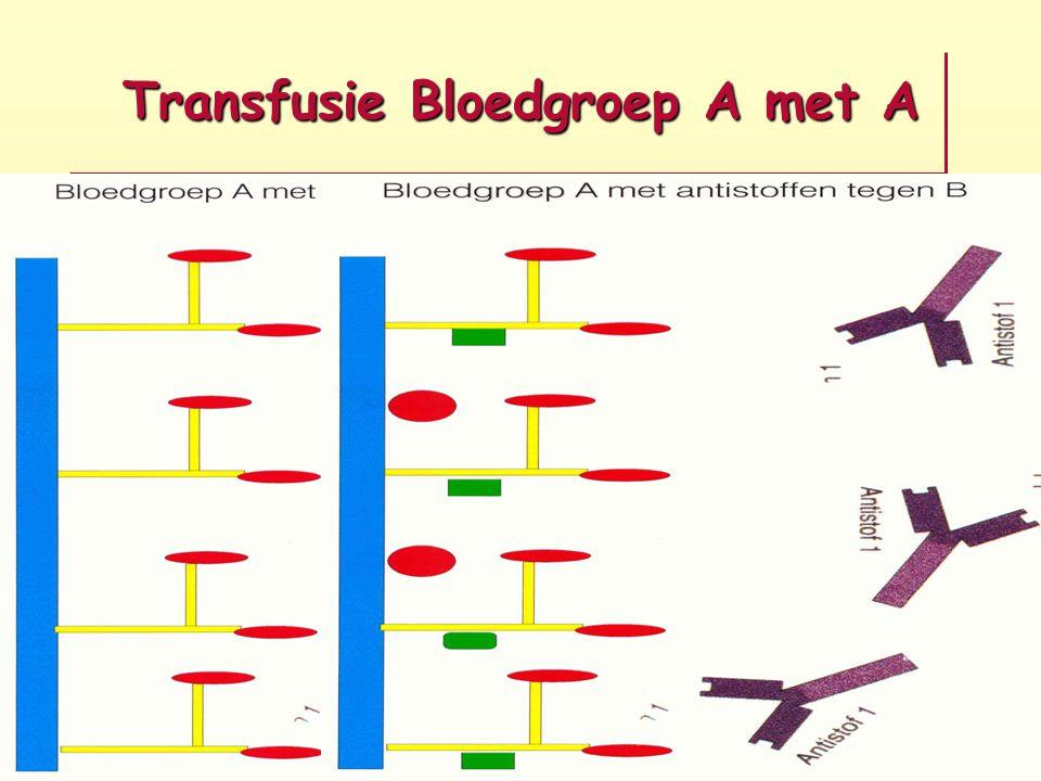 Transfusie Bloedgroep A met A