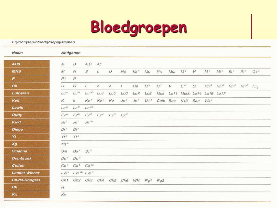 Bloedgroepen
