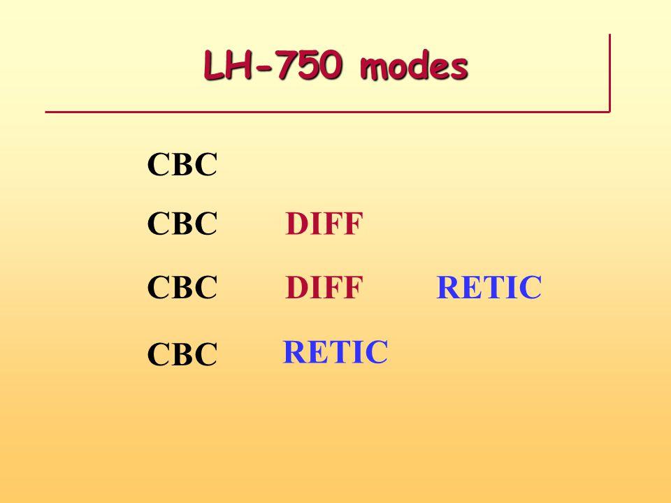 LH-750 modes CBC DIFF RETIC