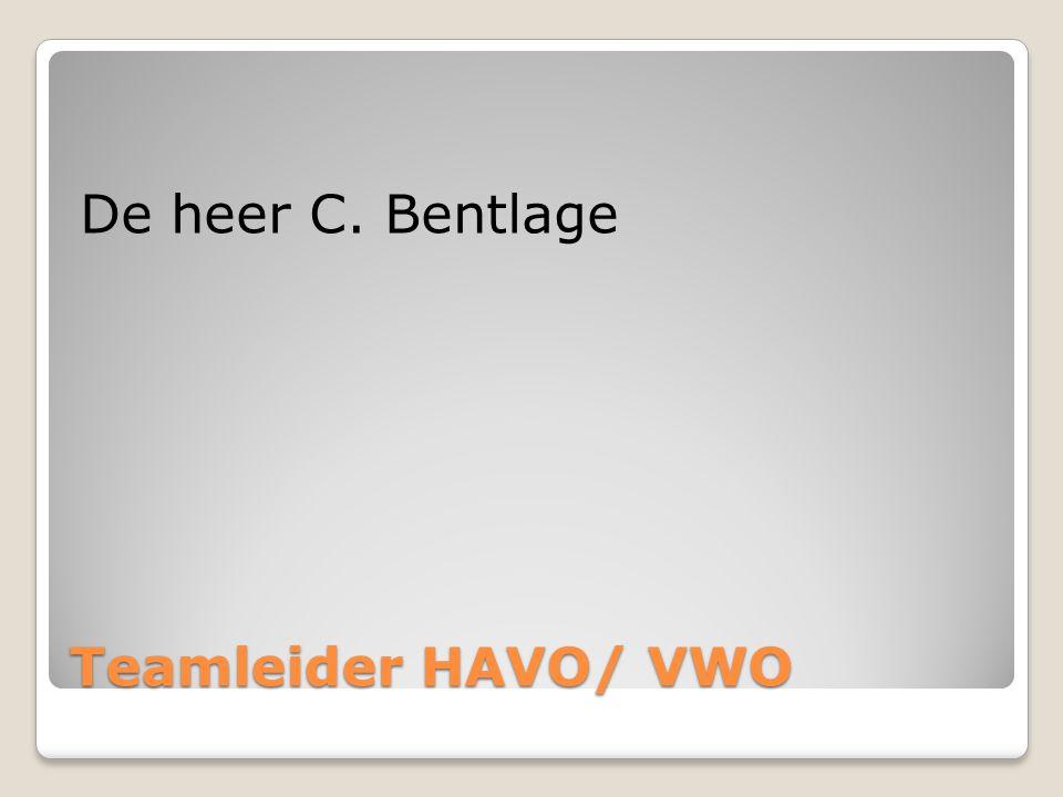 Teamleider HAVO/ VWO De heer C. Bentlage
