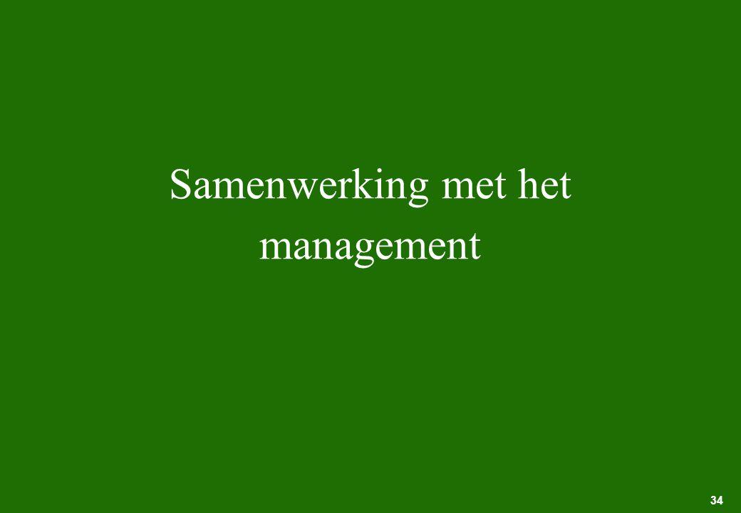 34 Samenwerking met het management