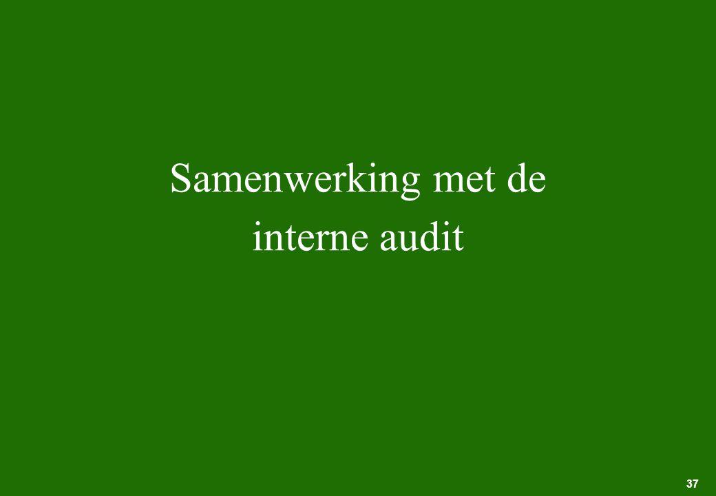 37 Samenwerking met de interne audit