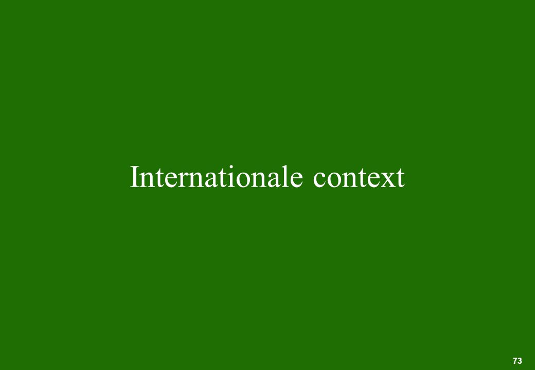 73 Internationale context