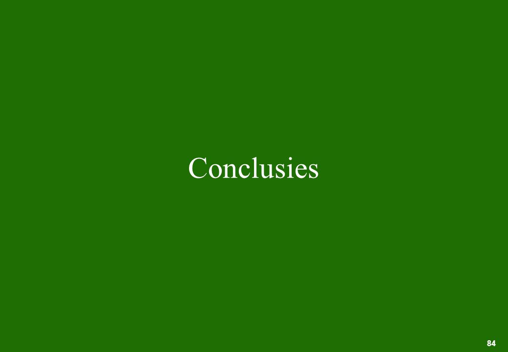 84 Conclusies