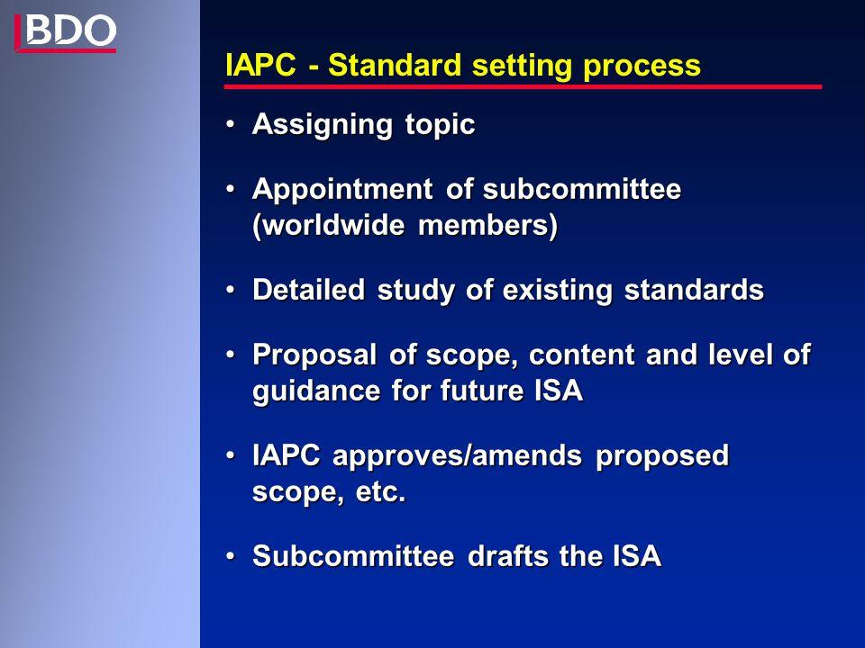 IASs 100-199 : Introductory matters 100 Assurance Engagements Opdrachten m.b.t.