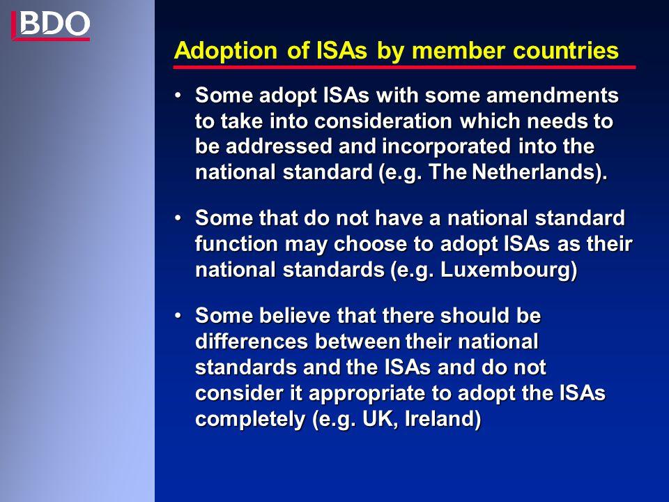 Actieplannen IBR Diverse initiatieven – zie hand out deel VII Toekomstige vorm van IBR aanbevelingen zal bestaan uit 3 delen: -letterlijke vertaling van ISA -ref Belgische wettelijke regels -richtlijnen en interpretaties om toepassing te vergemakkelijken