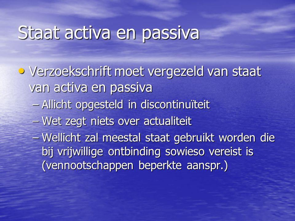 Staat activa en passiva Verzoekschrift moet vergezeld van staat van activa en passiva Verzoekschrift moet vergezeld van staat van activa en passiva –A